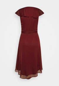 Nly by Nelly - DASHING FLOUNCE DRESS - Cocktail dress / Party dress - burgundy - 1