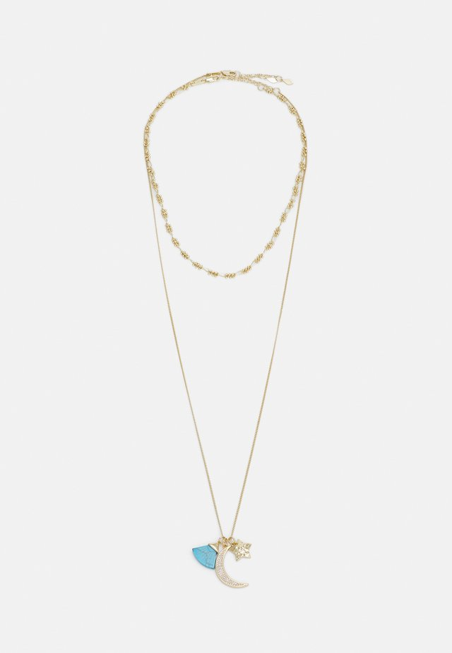 MOON CHARM CLUSTER LAYER NECKLACE 2 PACK - Halskette - gold-coloured