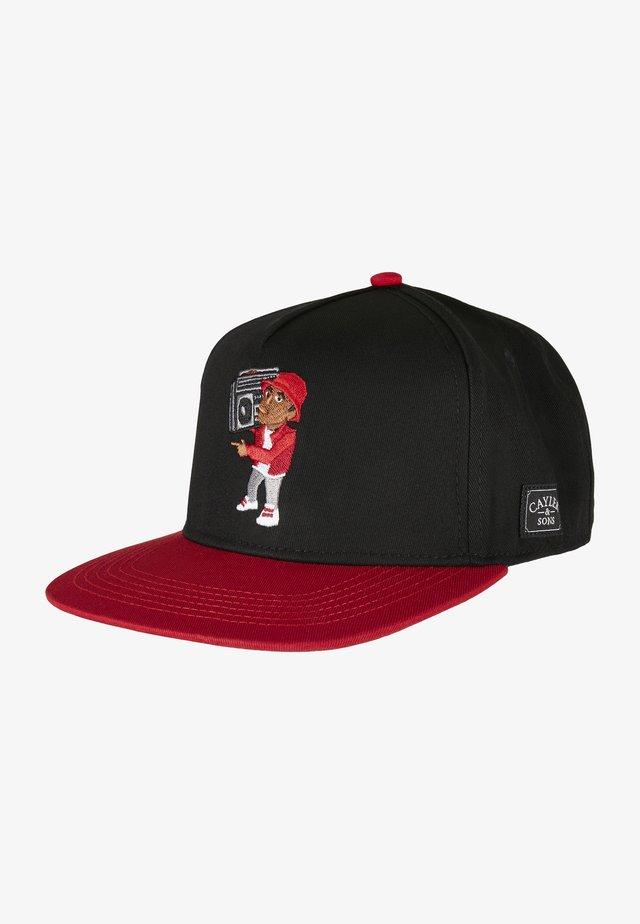 Cap - black red