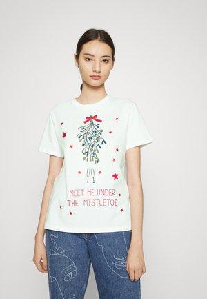 PCHANNIS CHRISTMAS - T-shirt print - bright white