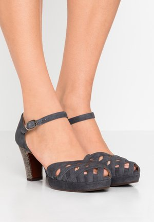 IRMA - Platform heels - titanio/black