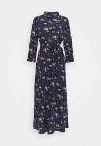 PIECES Tall - PCROSIA MIDI DRESS  - Skjortekjole - black/maritime blue - 0