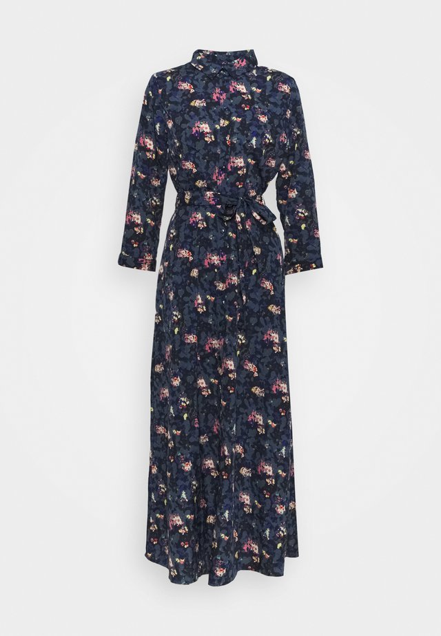 PCROSIA MIDI DRESS  - Skjortekjole - black/maritime blue