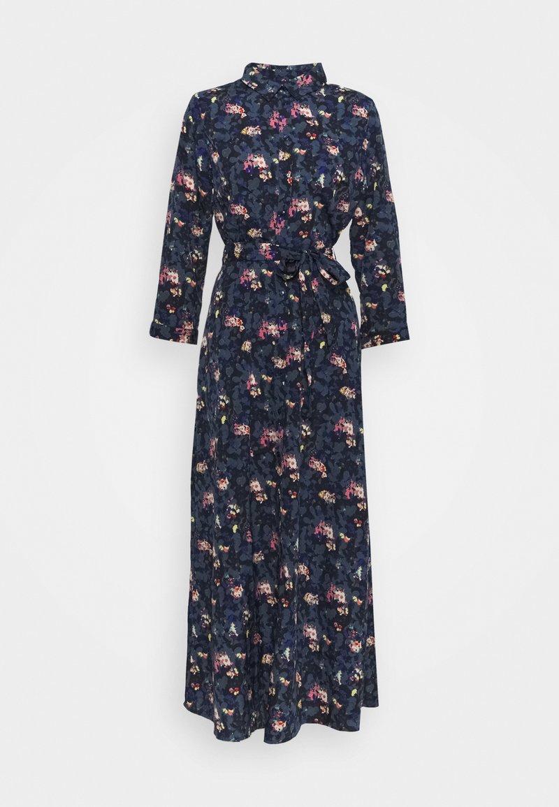 PIECES Tall - PCROSIA MIDI DRESS  - Skjortekjole - black/maritime blue