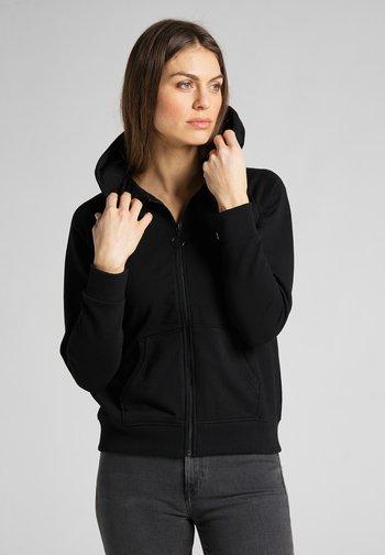 Zip-up hoodie - black