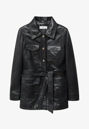 ALPHA-I - Leather jacket - schwarz