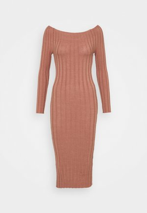 YASVERONICA MIDI DRESS  - Etuikjole - cognac