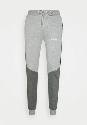 CONTRAST JOGGER WITH TAPING - Tracksuit bottoms - grey