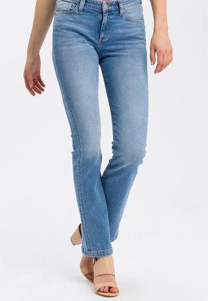 LAUREN - Bootcut jeans - light-blue