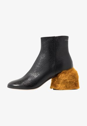 Ankle Boot - black/golden yellow
