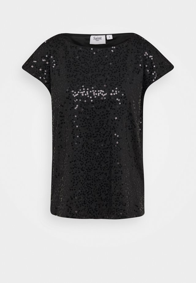CAROLA BLOUSE - Bluser - black