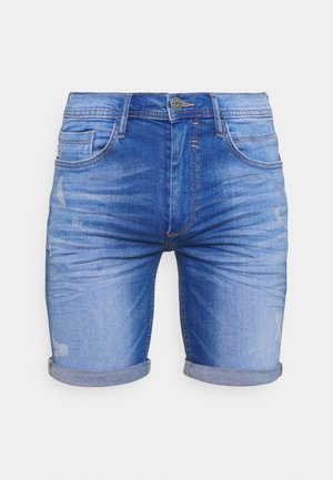 SCRATCHES - Denim shorts - blue denim