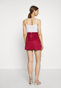 ONLY - ONLLINEA BONDED - A-line skirt - rhubarb - 2
