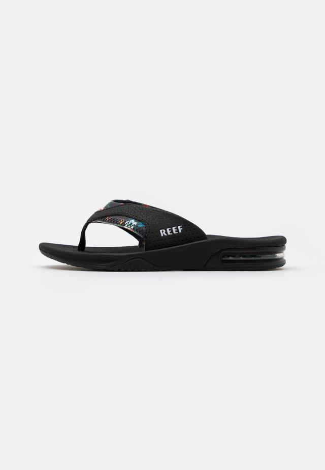 FANNING PRINTS - T-bar sandals - black