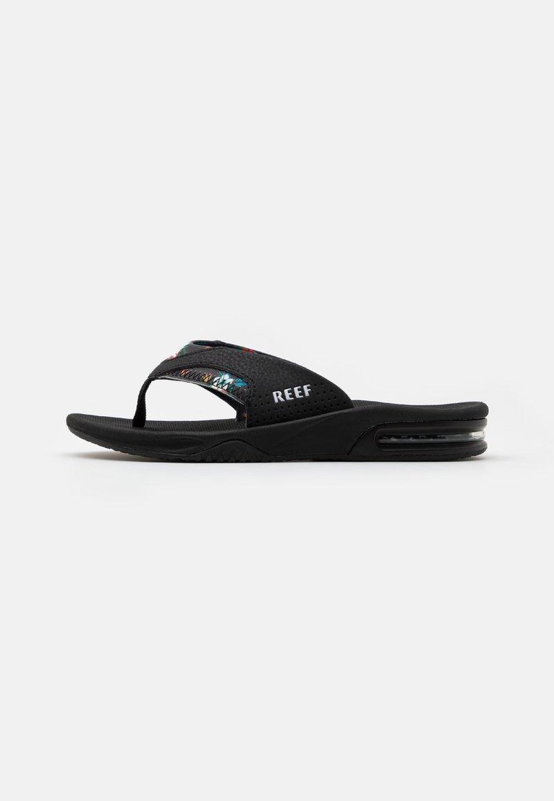 Reef - FANNING PRINTS - Sandály s odděleným palcem - black