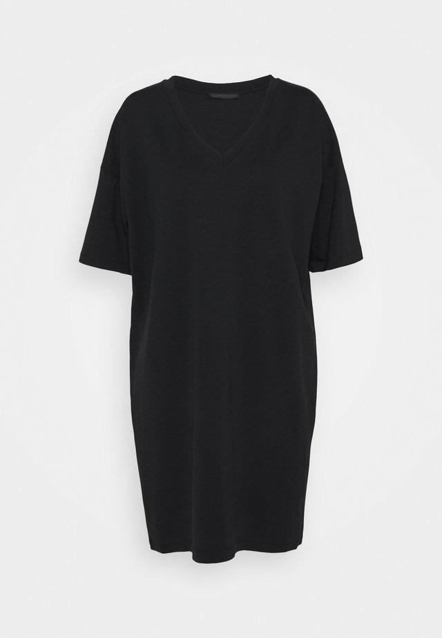 KABELLE - Jerseykleid - schwarz