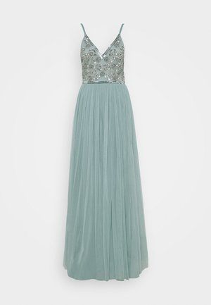STRAPPY EMBELLISHED MAXI DRESS - Galajurk - pastel turquoise
