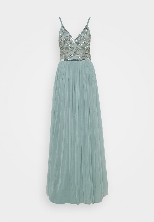 STRAPPY EMBELLISHED MAXI DRESS - Ballkjole - pastel turquoise