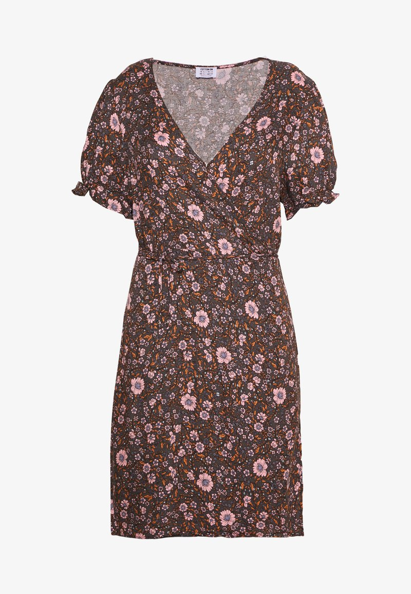 Cotton On Curve - WRAP MIDI DRESS - Day dress - multi-colour