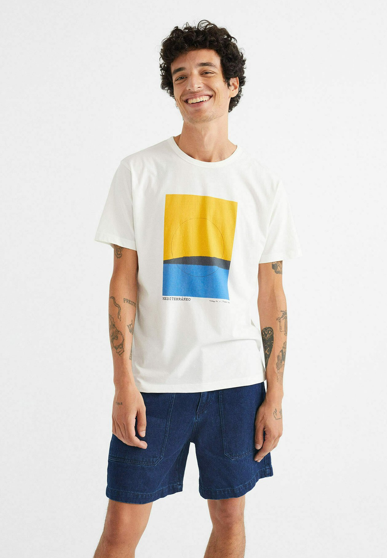 Herren MEDITERRANEO  - T-Shirt print