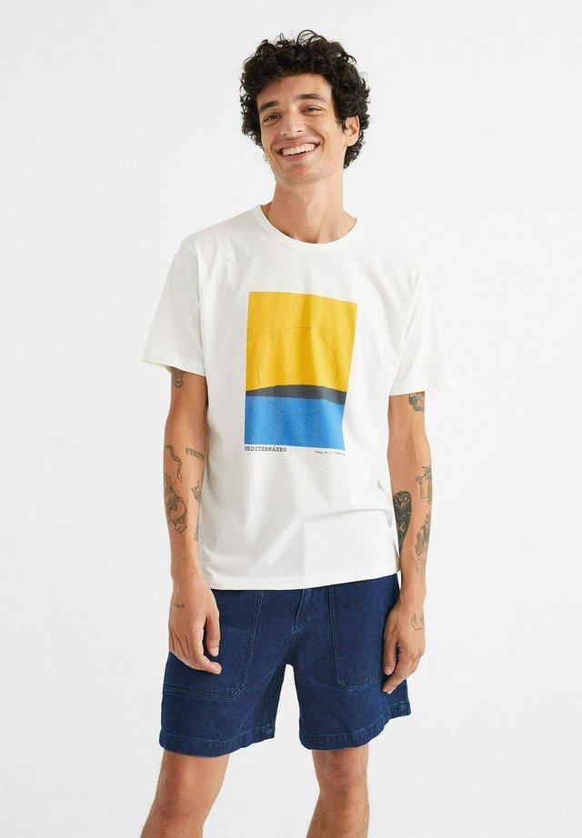 MEDITERRANEO  - Print T-shirt - white