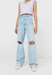 Stradivarius - Jean droit - light blue - 0