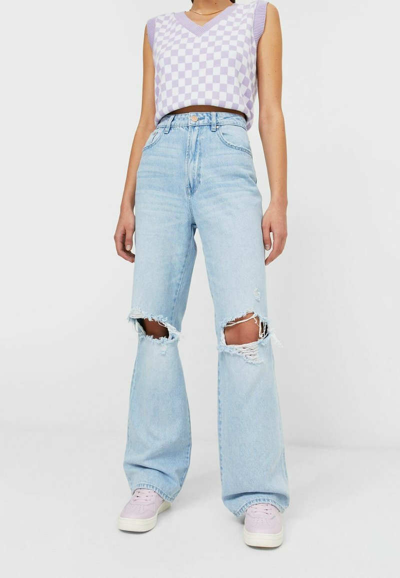 Stradivarius - Jeans Straight Leg - light blue
