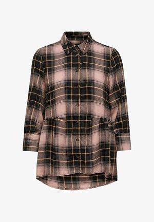 KARIERT - Button-down blouse - black