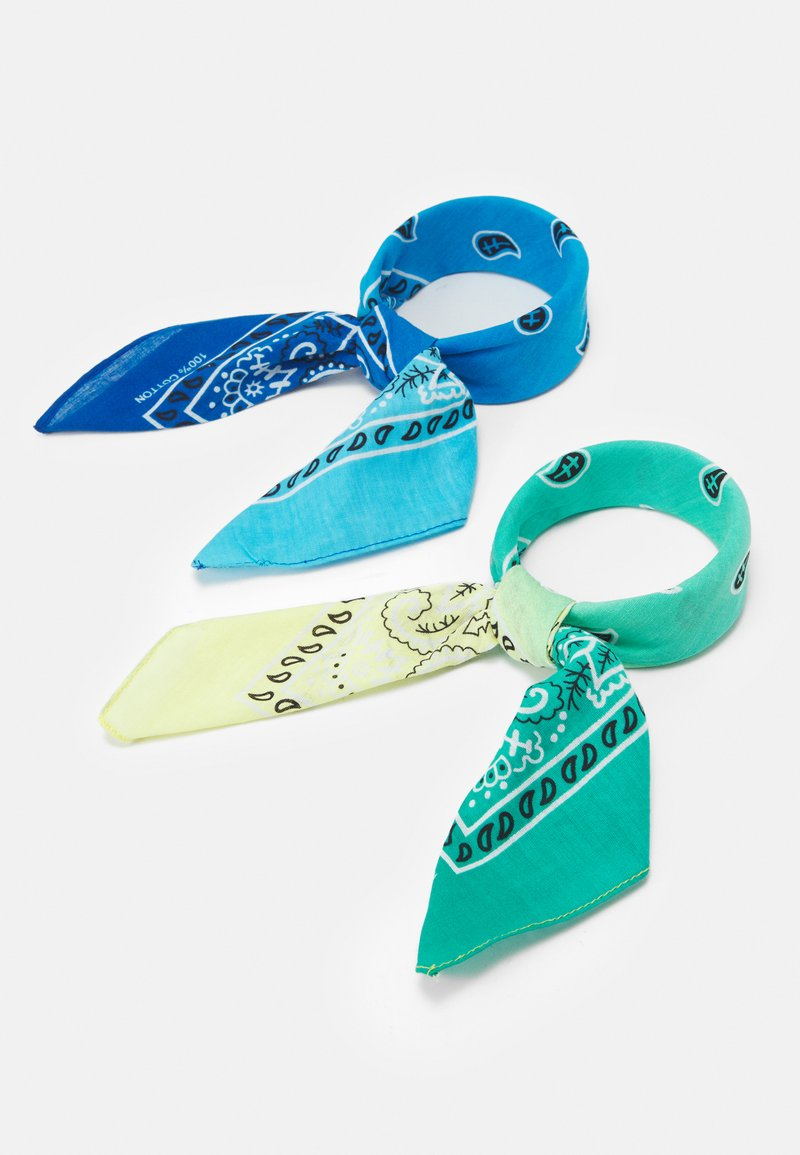 Vintage Supply - BANDANA UNISEX 2 PACK - Šátek - blue/green