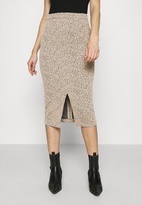 Banana Republic - PENCIL - Pencil skirt - neutral leopard - 0