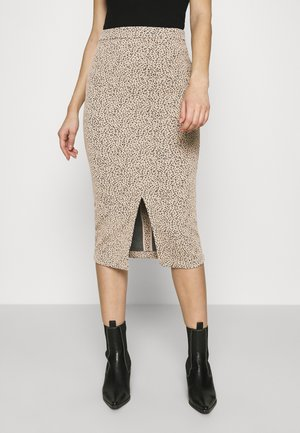 PENCIL - Pencil skirt - neutral leopard