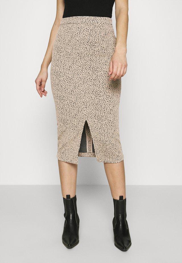 PENCIL - Falda de tubo - neutral leopard