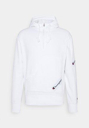 SPORTLEISURE HALF ZIP HOODED - Sweatshirt - white