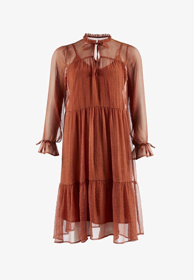 ANNY - Korte jurk - sand