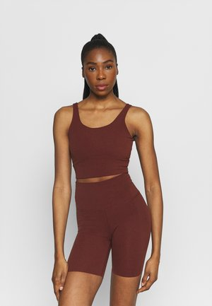 THE YOGA LUXE CROP TANK - Topper - bronze eclipse/smokey mauve