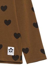 Mini Rodini - HEARTS GRANDPA - Top sdlouhým rukávem - brown - 2