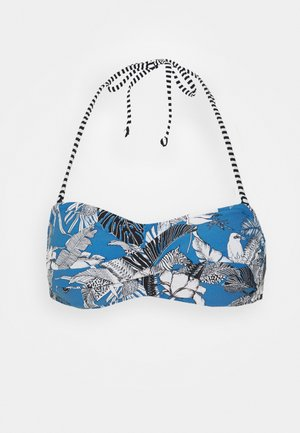 TULUM BEACH PAD BAND - Bikini top - blue