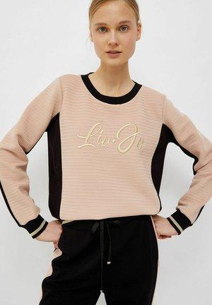 Sweater - beige/schwarz