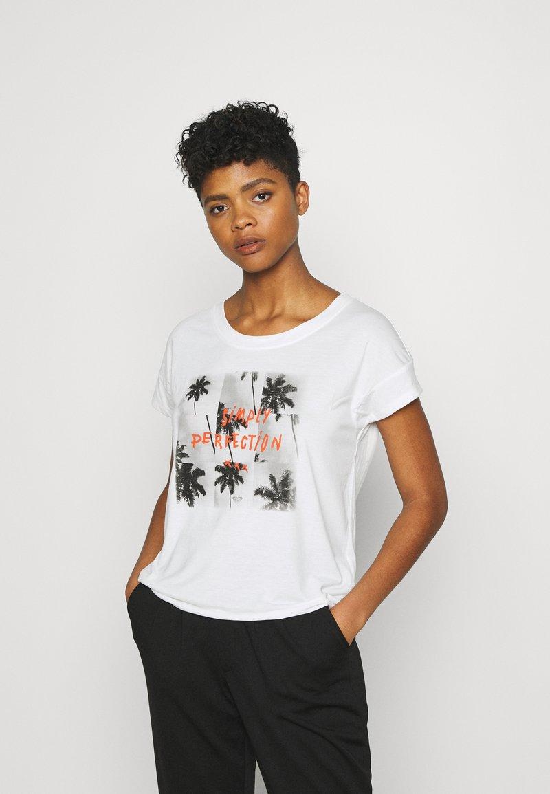 Roxy - LIKE I DO - Print T-shirt - snow white