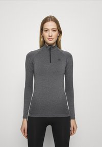 ODLO - TURTLE NECK HALF ZIP PERFORMA - Long sleeved top - grey melange - 0