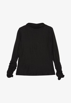 MOCK NECK - T-shirt à manches longues - pirate black