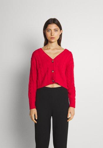NORAH CARDIGAN - Cardigan - red bright