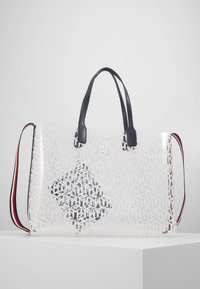 Tommy Hilfiger - ICONIC TOTE TRANSPARENT - Tote bag - white - 2