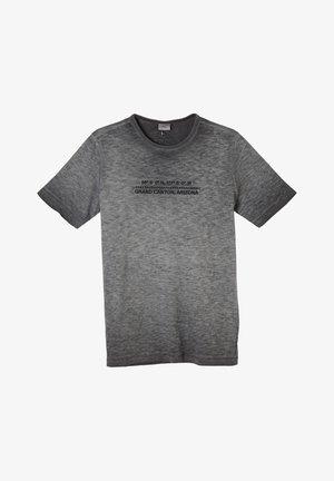 MIT FLAMMGARN-STRUKTUR - Print T-shirt - black