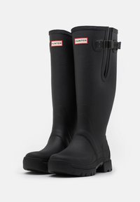 Hunter ORIGINAL - MENS BALMORAL SIDE ADJUSTABLE NEO LINED TECH SOLE BOOT TALL - Wellies - black - 1