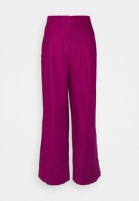 Marks & Spencer London - WIDELEG TROUSERS - Trousers - pink - 0