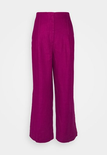 WIDELEG TROUSERS - Trousers - pink
