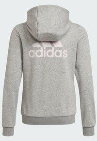 adidas Performance - Sweat à capuche zippé - grey - 6