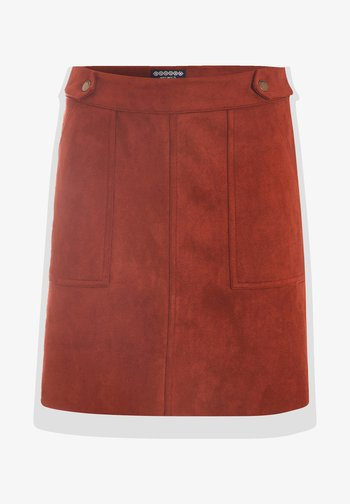 A-line skirt - marron cognac