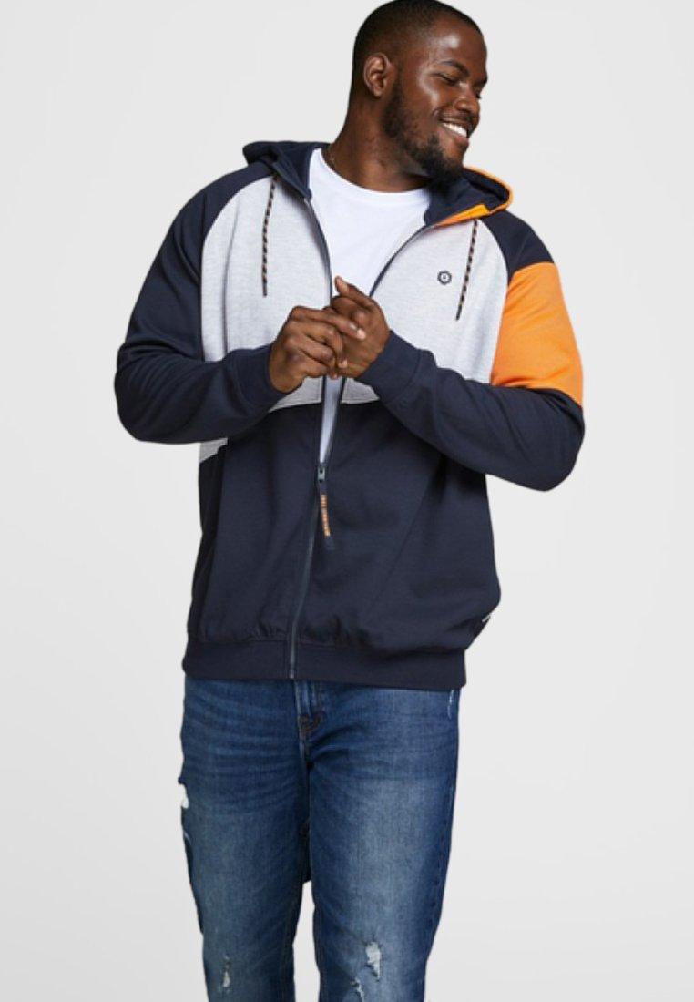 Jack & Jones - Zip-up hoodie - mottled dark blue